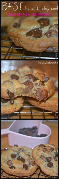 I have a new technique for making extra thick cookies and I have had great success with this… Preheat your oven to 425 degrees. (I use the convection setting but regular will work fine). Chill your cookie dough at least 4 hours! Cookie Desserts, Just Desserts, Cookie Recipes, Delicious Desserts, Dessert Recipes, Yummy Food, Yummy Cookies, Yummy Treats, Sweet Treats