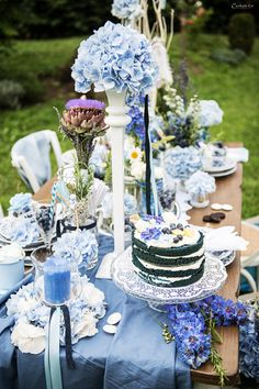 blue wedding table blue decoration blue deco blaue tischdekoration blauer tisch blue. Black Bedroom Furniture Sets. Home Design Ideas