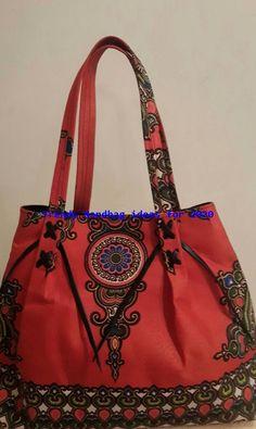 Bright Ankara Print hand bags a hot item. Black Lining with inside pocket . Popular Handbags, Handbags Online, Denim Handbags, Leather Handbags, Quilted Handbags, Trending Handbags, Ankara Bags, Types Of Handbags, Stylish Handbags