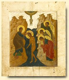 Baptism - exhibited at the Temple Gallery, specialists in Russian icons