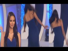 Miss World 2013 Megan Young's OOPS MOMENT while walking on the ramp.