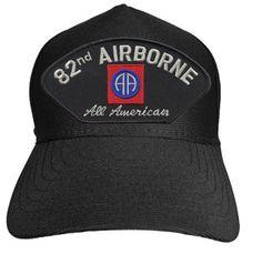 82ND AIRBORNE AA W/LOGO Baseball Cap - Meach's Military Memorabilia & More