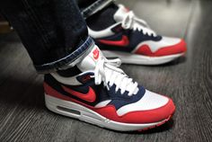 Nike Air max-1 rouge-bleu 2012