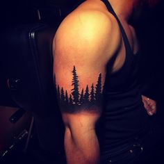 Forest arm band tattoo Instagram photo by @illustratedalex • 32 likes