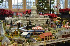 City Hall Replica at 2012 Holiday Poinsettia Show & Train Garden, via Flickr.