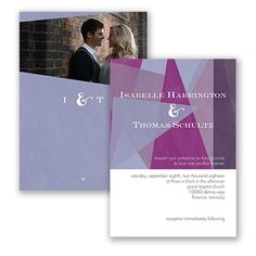 Harmony of Love in Victorian Lilac Wedding Invitation by David's Bridal #weddinginvitations #purpleweddings
