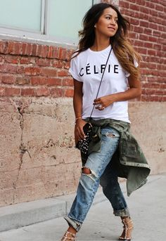 Look Stylish Wearing Boyfriend Jeans Outfit Look Fashion, Autumn Fashion, Womens Fashion, Fashion Trends, Fashion Bloggers, Fashion Beauty, Girl Fashion, Mode Outfits, Casual Outfits