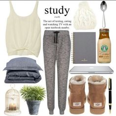 Cute outfit for those study sessions on the weekends