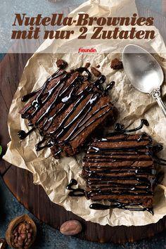 Ihr Freunde kommen spontan vorbei oder Sie brauchen kurzfristig ein Mitbringsel? Diese Nutella-Brownies sind in Nullkommanix gemacht und Sie benötigen nur zwei Zutaten