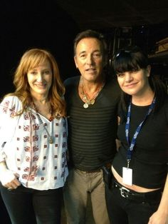 Patti Scialfa, Bruce Springsteen, and Pauley Perrette (actress on NCIS)