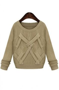 Long-sleeved high-quality wool sweater(3 colors)_Sweaters_CLOTHING_Voguec Shop