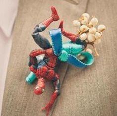 favorite superhero boutonniere