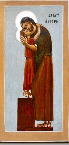 Saint Joseph and Jesus St Joseph Catholic, Catholic Art, Catholic Saints, Religious Pictures, Religious Icons, Religious Art, Christian Images, Christian Art, Image Jesus