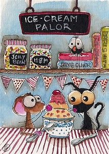 Ice-cream Parlor. Creating your own ice-cream makes every bite a masterpiece... yummy yum yum... Enjoy!