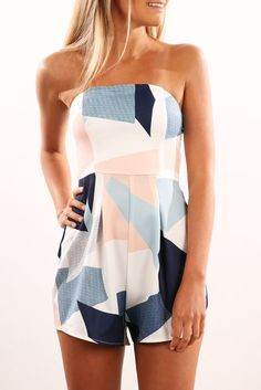 Abstract Playsuit Multi