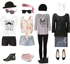 """""""I made something similar to Taylor Swifts outfits on her music video 22"""" by malik98 ❤ liked on Polyvore"""