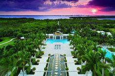 Hyatt Regency Coconut Point...I've been there 4 times..Love it!! It has a private island on the Gulf of Mexico.  Just bring a cooler and snacks....