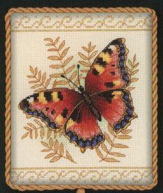 Схема для вышивки бабочка