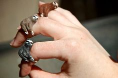 Etsy seller CuriousBurrow will make you a sweet, sleepy sloth ring to order, in a range of colors. Sloth Ring - Made To Order (via The Mary Sue) Take My Money, Halloween Jewelry, Geek Stuff, Fun Stuff, Haha, Rings For Men, My Style, Sloths, Etsy