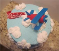 Whimsy Airplane theme By labelle24 on CakeCentral.com