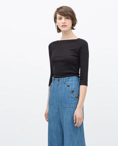 ZARA - WOMAN - ORGANIC COTTON T-SHIRT