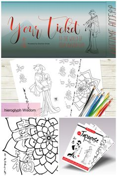Japanese Coloring Book Adult Pages Based On Traditional Art Printable PDF