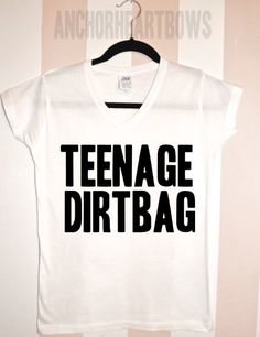 Teenage Dirtbag One Direction V-Neck Shirt Nialler Zayn Malik Harry Styles Liam Louis Niall Horan 1D Hipster #102 on Etsy, £9.19