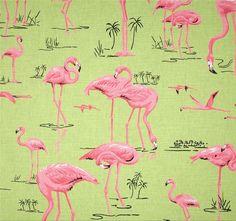 Tela FQ :: flamingos bermuda :: de nosgustanlosretros por DaWanda.com