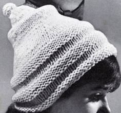 Pixie Cap knit pattern from High Fashion Hats, originally published by Bernhard Ulmann, Volume 62, in 1961.