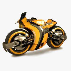 sci fi racing 3d max - Sci Fi Racing Bike... by LSDhillon