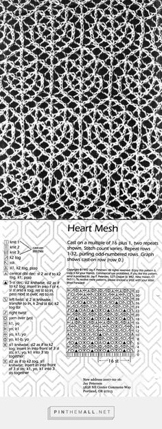 Heart mesh lace ~~
