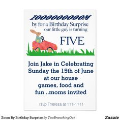 Zoom By Birthday Surprise Card