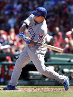 cubs beat cardinals 6-4 | Chicago Cubs' Kyle Schwarber swings on a three-run home run during the ...