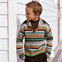 Pull La Redoute - Mode enfants automne hiver 2007, mode enfant - Un jeu de rayures masculin pour un pull sportwear élégant et à petit prix. La Redoute Pull camionneur : 11,99 € www.laredoute.fr
