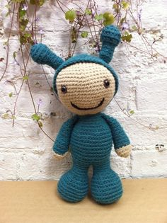 Crochet Amigurumi - Davey, the boy who wanted to be an Alien