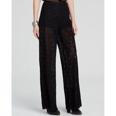 FP 'Brianas' Lux Lace Bells. SZ 2. NWT ($168). Free People Pants 'Brianas' High Waist Lace Romantic and rich, Free People's sheer lace wide legs put a luxe spin on effortless party glam. Cotton/nylon; lining: rayon. Hand wash. High waist, concealed side zip, sheer velvet lace (lined with black shorts), wide leg/flare. Free People Pants Wide Leg