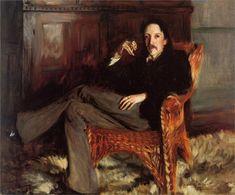 Robert Louis Stevenson (1887), John Singer Sargent, American (1856 - 1925), Taft Museum of Art, Cincinnati