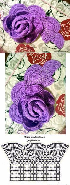 rose, crochet, can be a nice decoration for anything... ♥ Deniz ♥