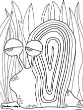 snail coloring page, snail