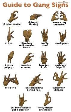 gang hand sign interpretation