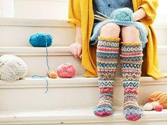 Be creative with wool socks Wool Socks, Knitting Socks, Hand Knitting, Leg Warmers, Knit Crochet, Slippers, Legs, Creative, Shoes