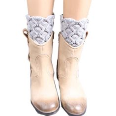 MaxMaxi Fashion Crochet Knitting Cable Knit Winter Short Leg Warmer (Grey). Imported. Elastic leg warmers, one size fit most of women. Dress up your boots and booties with trendy lace trim boot socks. Look great with skirts, leggings and skinny jeans. Hand wash and air dry.