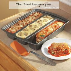 Three kinds of lasagna can be prepared at the same time