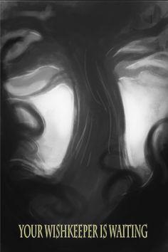 Your WishKeeper is waiting. Black and white artwork by Dan Howard.  The WishKeeper:  http://amzn.to/1hBFi4X