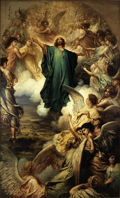 The one who descended is also the one who ascended far above all the heavens, that he might fill all things. (Ephesians 4:10) // The Ascension / L'Ascension // 1879 // Gustave Doré // Petit Palais, Paris // #Jesus #Christ #Cristo