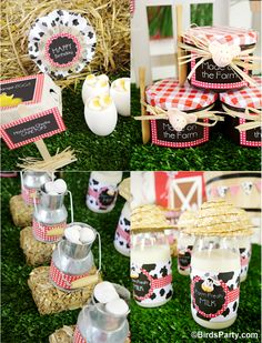 Barnyard red barn animals farm party ideas with lots of DIY decorations, party printables, sweet party food and favors! Party Animals, Farm Animal Party, Farm Animal Birthday, Barnyard Party, Farm Birthday, 2nd Birthday Parties, Farm Party Favors, Birthday Ideas, Barnyard Animals