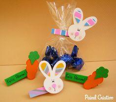 Pregadores com coelhinhos de EVA para páscoa | Pra Gente Miúda