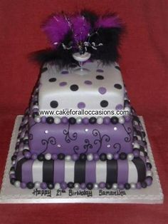 Cake L180 :: Women's Birthday Cakes :: Birthday Cakes :: Cake Library - Cake for all Occasions