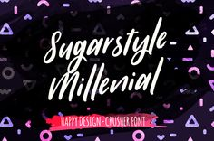 Sugarstyle Millenial  #plus #one #more #font #on #freebiesteam #webresources #sugarstylemillenialfont #solution #project #web #download #free