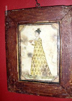 Fraktur of a Lady by Steve Shelton in an early frame. (SOLD)